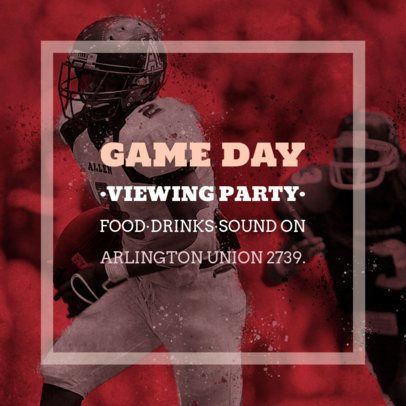 Social Media Post Design Template for a Game Day Viewing Party 582l-1928