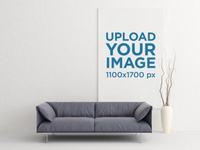 Art Print Mockup Featuring Minimalistic Furniture 336-el