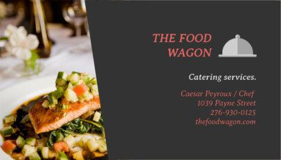 Catering Services Business Card Maker Featuring a Delicious-Looking Plate 107f-58-el