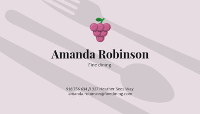 Business Card Template for a Catering Service with Food Illustrations 122g-58-el