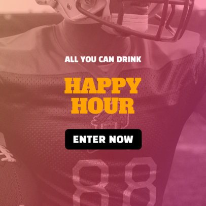 Banner Design Maker for a Happy Hour Offer 542k-1929