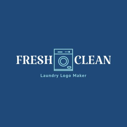 Minimal Logo Maker for Laundry Services 1776f 81-el