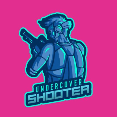 Gaming Logo Maker with a Soldier Illustration Inspired in Free Fire 2637l-2641