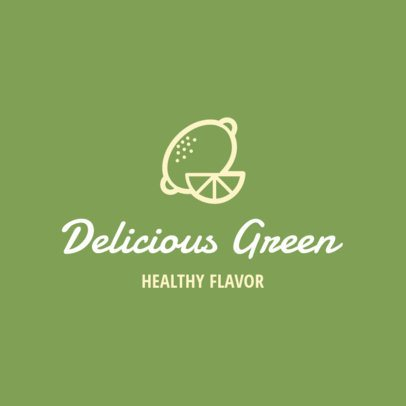 Simple Logo Maker for a Healthy Food Restaurant 1267g 42-el