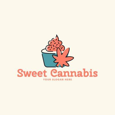 Logo Maker for a Cannabis Desserts Market 2648a
