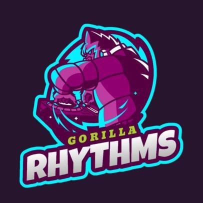 Online Logo Maker for DJs with a Gorilla Clipart 2656f-2658