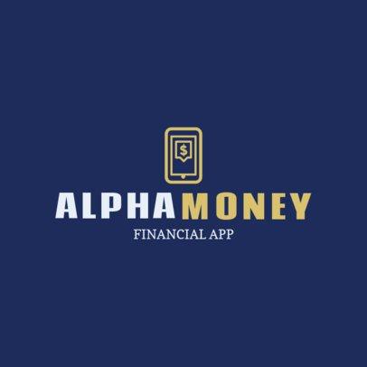 Logo Template for a Financial Mobile App 1141l 61-el