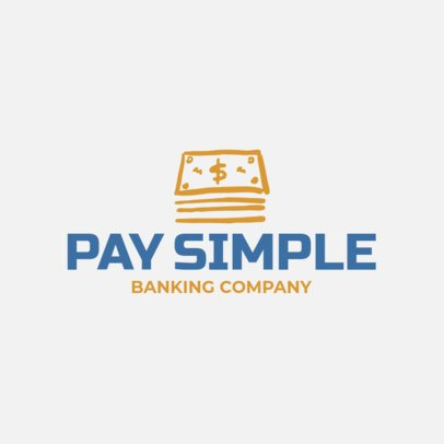 Minimalist Logo Generator for a Bank 1160m 37-el