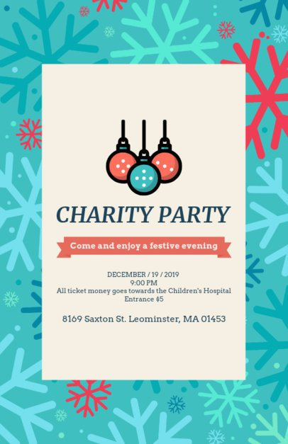 Charity Party Flyer Maker Featuring Christmas-Themed Graphics 109d 128-el