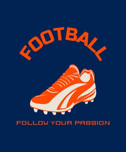 T-Shirt Design Template Featuring a Football Cleat Graphic 1973d