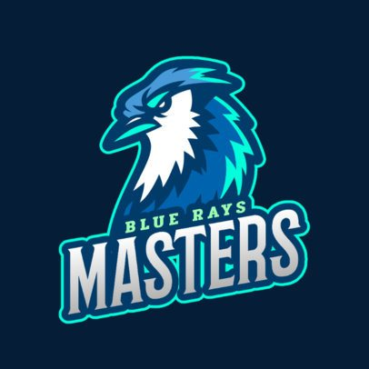 Sports Logo Template Featuring Aggressive Bird Illustrations 2693
