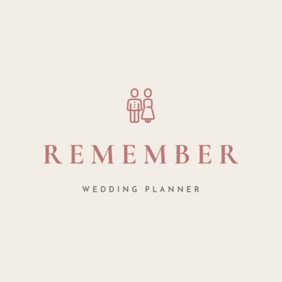 Online Logo Maker for a Wedding Planner Featuring a Graphic of a Couple 1217g-154-el