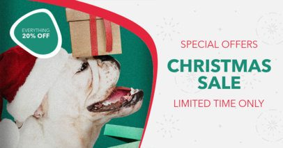 Facebook Ad Design Template for Christmas Special Offers 13b-el