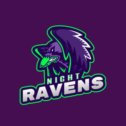 Logo Maker for Sports Fans Featuring an Angry Raven Clipart 2693i