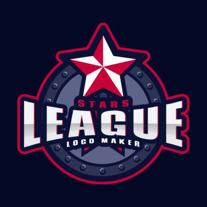 Sports Logo Creator for a Stars League 2702g