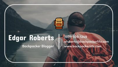 Business Card Maker for a Travel Blogger 264f 115-el