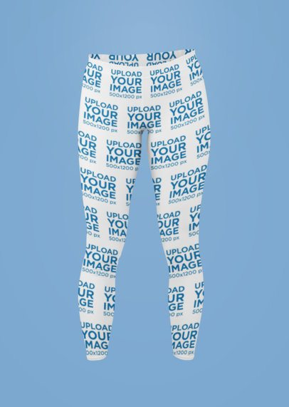 Sublimated Leggings Mockup of a Ghosted Woman in a Studio 29507