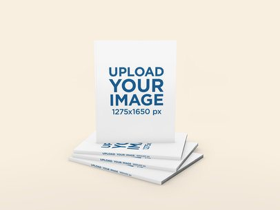Mockup Featuring a Magazine Pile and a Customizable Background 1104-el