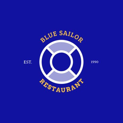 Beach Restaurant Logo Maker with a Lifesaver Icon 1758h-188-el
