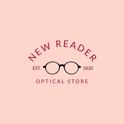 Optical Store Logo Maker with a Classic Style 1497f-194-el