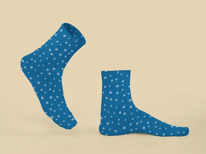 Ghosted Mockup of a Pair of Sublimated Socks 29524