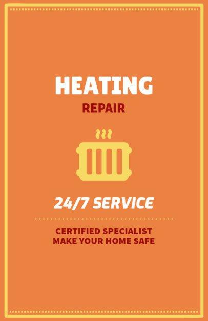 Flyer Design Template for Heating Repair Companies 730f 120-el