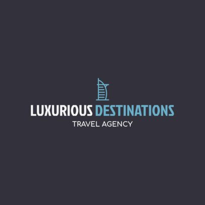 Luxury Travel Agency Logo Generator 1148k 135-el