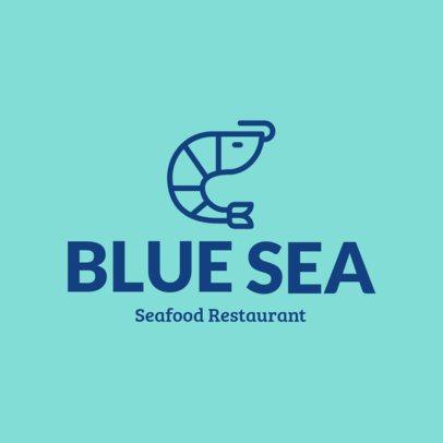 Seafood Restaurant Logo Generator Featuring a Shrimp Silhouette 1801l 150-el