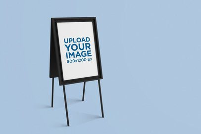 Mockup of a Poster Placed on a Foldable Display 1264-el