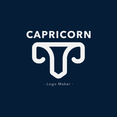 Zodiac Logo Design Template Featuring an Capricorn Sign Icon 2662k-230-el