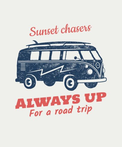 T-Shirt Design Maker Featuring a Vintage Surf Van 54c-el