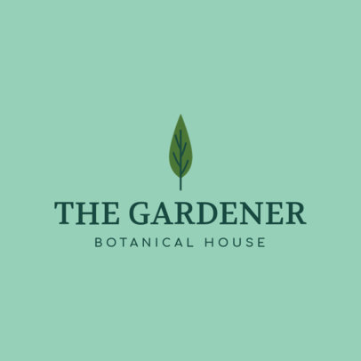 Botanical House Logo Template Featuring a Leaf Graphic 1166i-2660