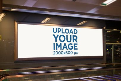 Mockup of an Indoor Billboard 1189-el