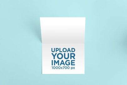 Mockup of a Horizontal Greeting Card on a Solid Surface 941-el