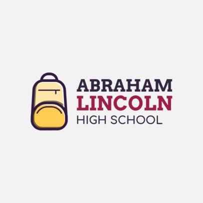 High School Logo Maker with a School Supply Icon 234d-el