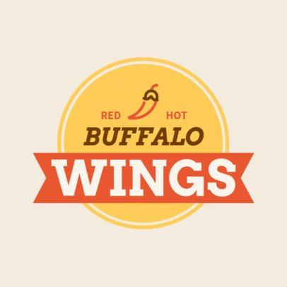 Chicken Wings Restaurant Logo Generator 1228g 273-el