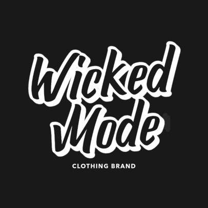 Clothing Brand Logo Maker Featuring a Fun Typeface 2751c