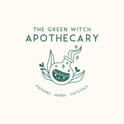 Logo Design Maker for an Apothecary Store with a Witchy Style 2724m