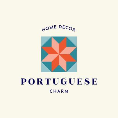 Home Decoration Logo Maker with a Portuguese Geometric Pattern Icon 1325k-231-el