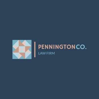 Law Firm Logo Maker with a Geometric Pattern Icon 1517l-231-el