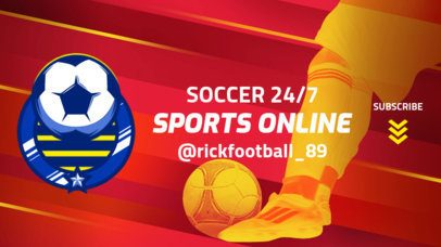 YouTube Banner Template with a Soccer Theme 2034a