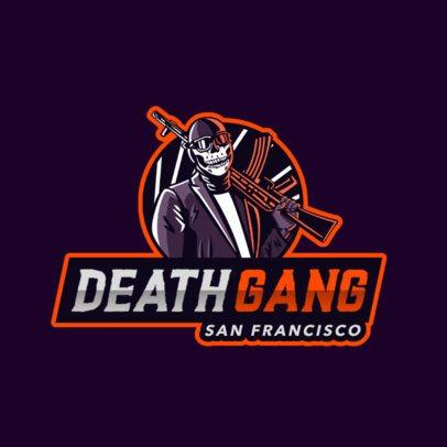 Logo Maker Featuring a Masked Gang Member 2754h