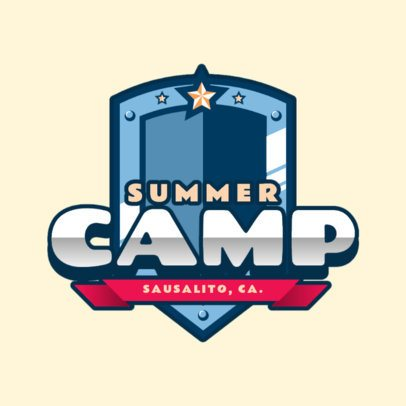 Summer Camp Logo Maker with a Super Hero Aesthetic 2753f