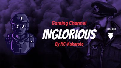 YouTube Banner Template Featuring Graphics Inspired by PUBG 2064