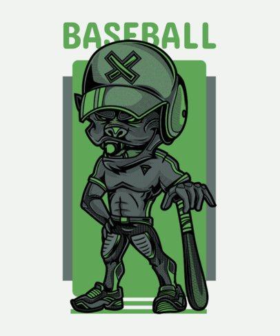 Baseball T-Shirt Design Maker Featuring a Street Art-Style Character 97e-el