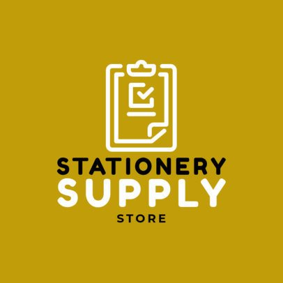Logo Maker for a Stationery Supply Store 1380i-294-el