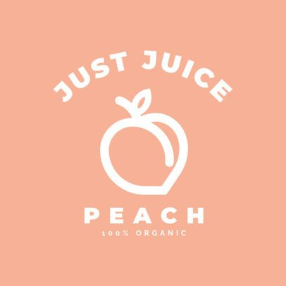 Online Logo Maker for a Juice Place Featuring a Peach Silhouette 253a-el