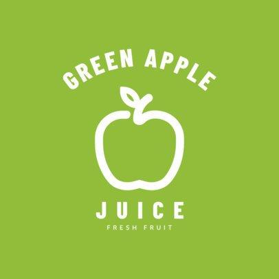 Simple Logo Maker for Apple Juice Brands 253c-el
