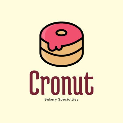 Bakery Logo Maker with a Sweet Donut Icon 276b-el