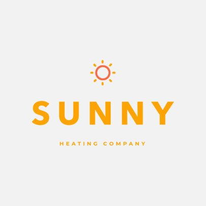 Logo Maker for a Heating Company with an Abstract Sun Graphic 272a-el